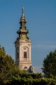 Tower Of Orthodox Cathedral (saborna Crkva) In Belgrade, Serbia