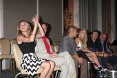 LOS ANGELES - AUG 24:  Hunter King, Beau Kayzer, Bryton James, other cast at the Young & Restless Fa