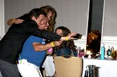 LOS ANGELES - AUG 24:  Christian LeBlanc, Catherine Bach, George Guzman, Melissa Claire Egan at the