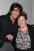 LOS ANGELES - AUG 24:  Michael Damian, mother at the Young & Restless Fan Club Dinner at the Universal Sheraton Hotel on August 24, 2013 in Los Angeles, CA