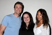 LOS ANGELES - AUG 25:  Daniel Goddard, Cathy Tomas, Christel Khalil at the Goddard and Khalil Fan Ev
