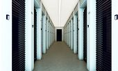 foto of self-storage  - modern self storage with closed blue dampers - JPG