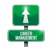 Career Management Road Sign Illustration