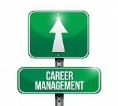 Career Management Road Sign Illustration