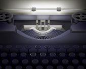 Typewriter.  Vector illustration.