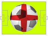 Soccer Football With England Flag Illustration, Concept
