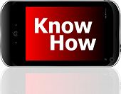Smart Phone With Know How Word
