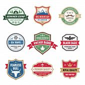 pic of bull  - Badges collection in vector format for different design works - JPG