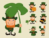 Set Of Leprechaun Characters Poses