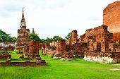 Wat Mahathat Ancient Ayutthaya Period