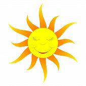 Cartoon Sun (gradient Color)