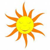 Cartoon Sun (solid Color)