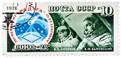 Stamp Printed In Ussr, Shows A Astronauts Cosmonauts Aksenov , Bykovsky