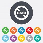 stock photo of modifier  - No GMO sign icon - JPG