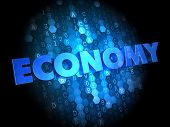 Economy on Dark Digital Background.