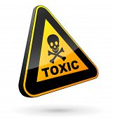 picture of toxic substance  - vector illustration of toxic sign on white background - JPG