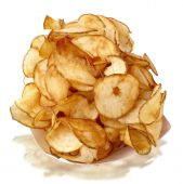 pic of potato chips  - Fresh - JPG