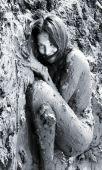 Naked Girl Lying In The Dirt