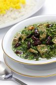 ghormeh sabzi, Persian herb stew, iranian nation dish