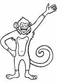 Monkey Line Art