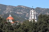 stock photo of chapels  - Thomas Aquinas Chapel at the collage in Ojai  - JPG