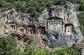 image of dalyan  - Cave tombs of Kaunos near Dalyan - JPG