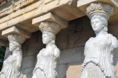 Female Statues Of Erechtheion Temple