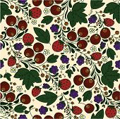 Strawberry, Berries, Leaves On A Light Background