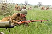 Odessa, Ukraine - May 6: Fragment Reconstruction Combat Events In 1943, In The Battle Of Odessa In W