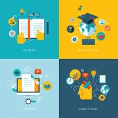 stock photo of online education  - Icons for education - JPG
