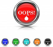 Oops Icon - Six Colors Vector Set