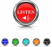 Listen Icon - Six Colors Vector Set