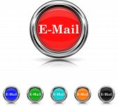 E-mail Icon - Six Colors Vector Set