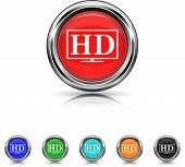 Hd Tv Icon - Six Colors Vector Set