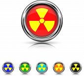 Radiation Icon - Six Colors Vector Set