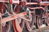 Close-up Of Steam Engine Train