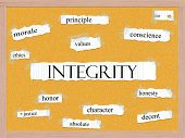 Integrity Corkboard Word Concept
