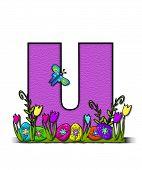 Alphabet Easter Egg Garden U