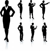 foto of person silhouette  - Businesswoman Silhouette Collection Original Vector Illustration People Silhouette Sets - JPG
