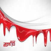 eps10 vector isolated red ink flowing background