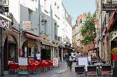 Street Rue De La Baclerie In Nantes, France