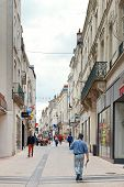 Street Rue Baudriere In Angers, France