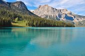 Incredible Emerald Lake In The Rockies, British Colombia, Canada