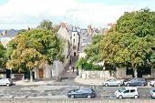 Rue Saint-aignan Street In Angers, France