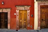 Three Doors With Different Sizes, San Miguel De Allende, Mexico