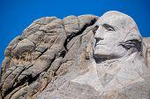 George Washington On Mount Rushmore National Monument, South Dakota, Usa