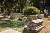 Sightseeing In Corfu City: Interesting Place - Ancient And Old British Cemetery After The War.