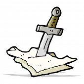 cartoon dagger in maps