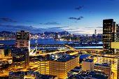 Hong Kong Island from Kowloon kwun tong district