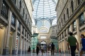 Detail Of Public Shopping, Art Gallery Galleria Umberto In Naples, Italy. Naples Historic City Cente